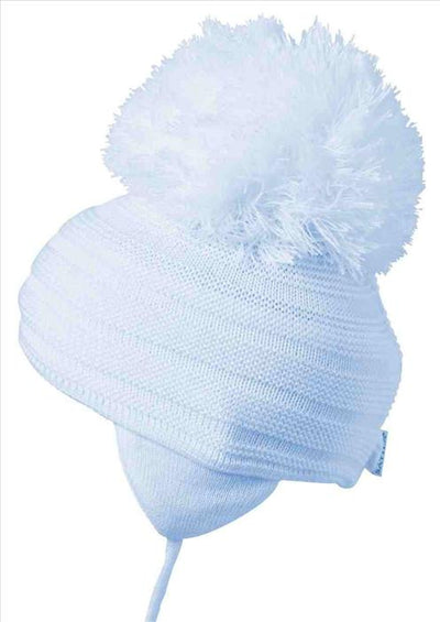 Satila Purl Huge Pom Hat Light Blue  C71813