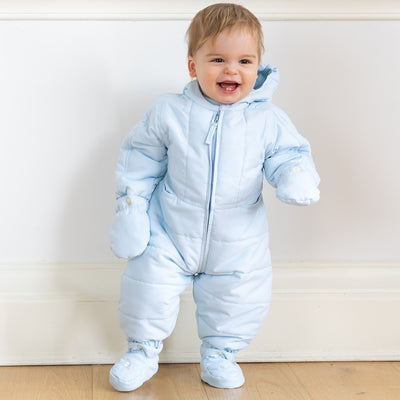 Emile et Rose Rohan Blue Baby Boys Winter Snowsuit  SKU 1855PB