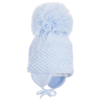 Satila Jackie Huge Pom Hat Blue