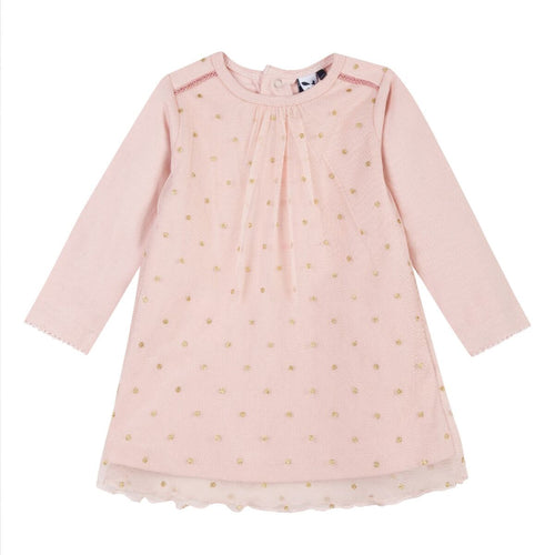 3pommes Girls Pink and Gold Dress