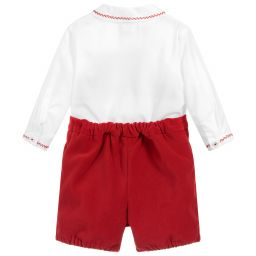 Sarah Louise White / Red 2 Piece Set