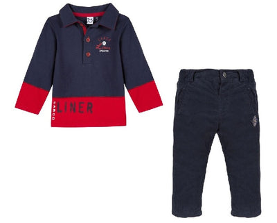 3pommes Boys Polo Shirt and Trouser Set SKU  3M11013-3M22063