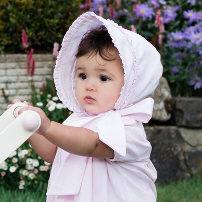 Emile et Rose Suzanne Baby Girls Cotton Bonnet