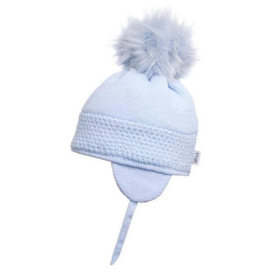 Satila Daisy Light Blue Faux Fur Pom Pom Hat  C71817