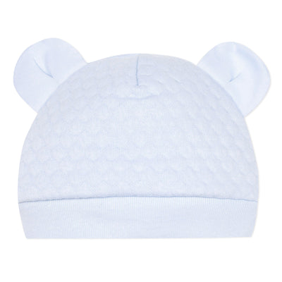 Absorba Baby Pale Blue Quilted Hat with Ears