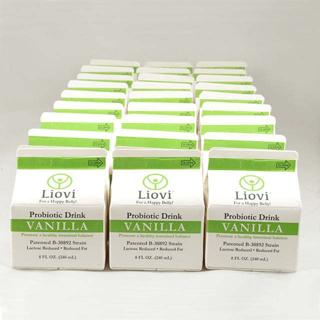 Liovi® Probiotic Drink Vanilla - Case of 27 - 8 oz. Cartons