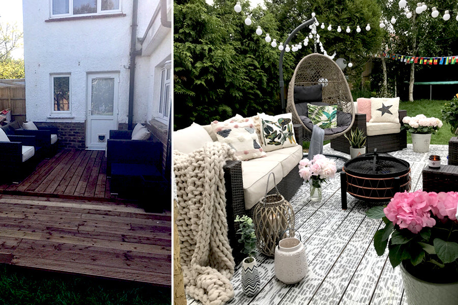 12 Amazing Stenciled Patio Makeovers Dizzy Duck Designs