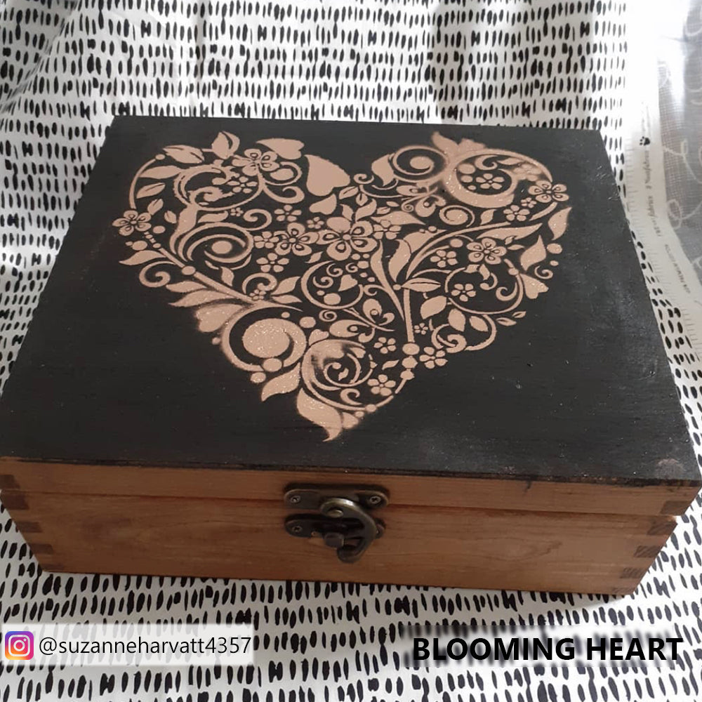 SHOP our Blooming Heart stencil