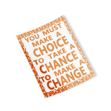 orange choice chance change rectangle sticker