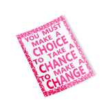 pink choice chance change rectangle sticker