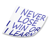 i never lose sticker