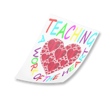 teaching a work of heart sticker