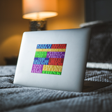 square slogans sticker