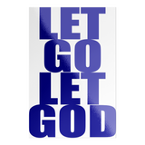 let go let god rectangle sticker