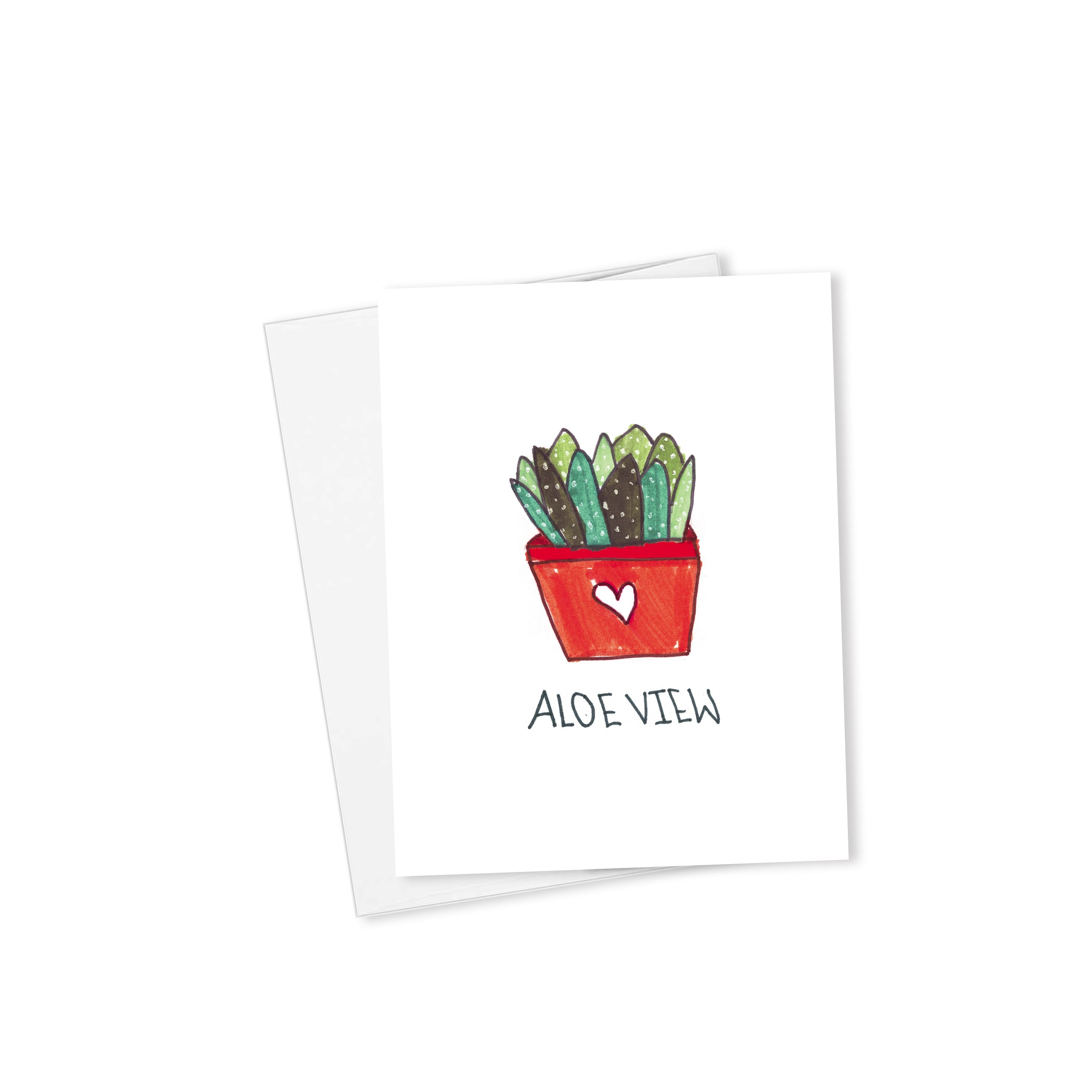 Aloe View Card-Cards-Morning Blossom Studio