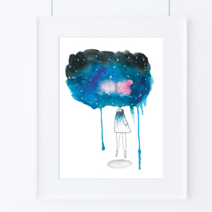 Head In the Galaxy-Prints-Morning Blossom Studio
