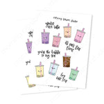 Boba Sticker Collection-Morning Blossom Studio