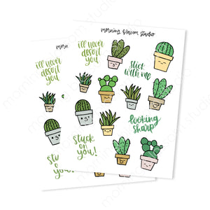 Succulent Sticker Collection-Morning Blossom Studio