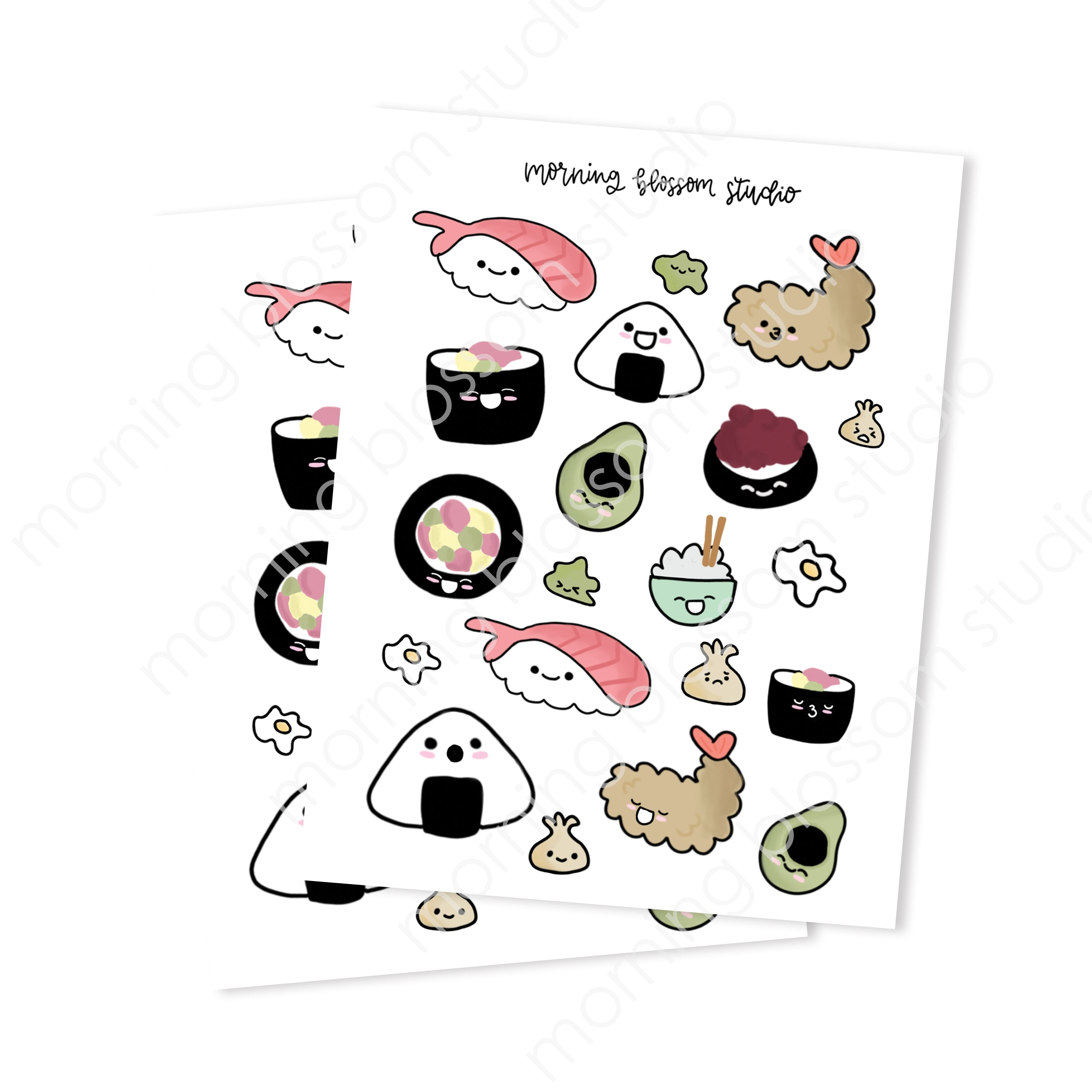 Sushi Sticker Collection-Morning Blossom Studio