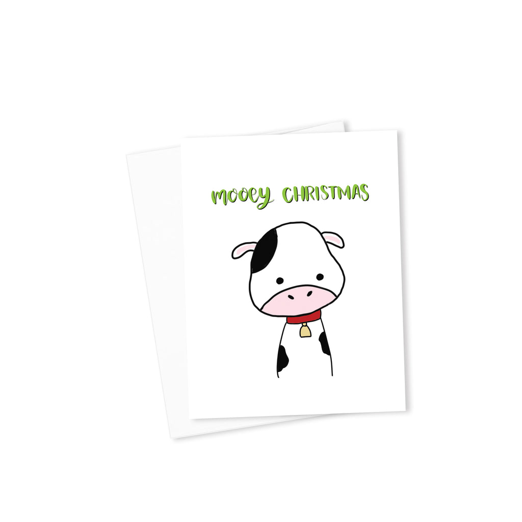 Mooey Christmas Card-Cards-Morning Blossom Studio