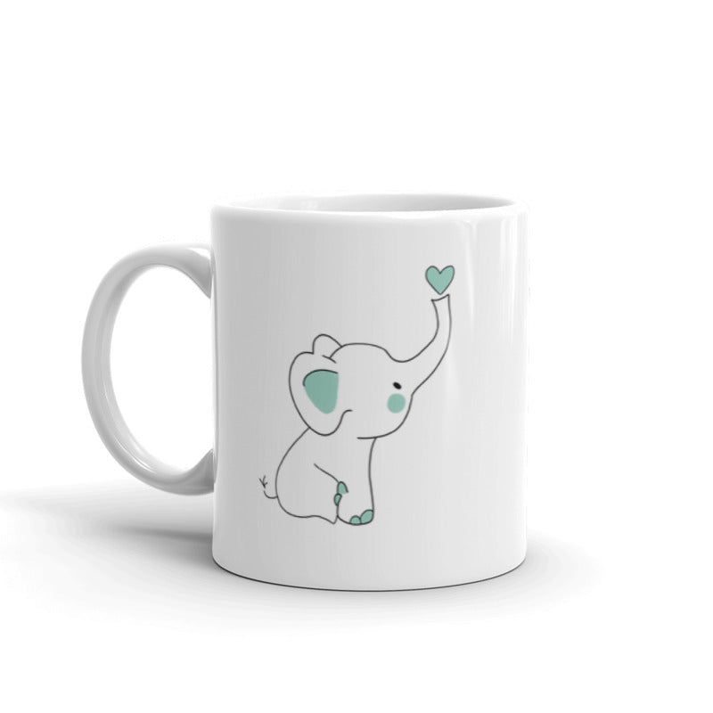 Cute Baby Elephant Ceramic Mug