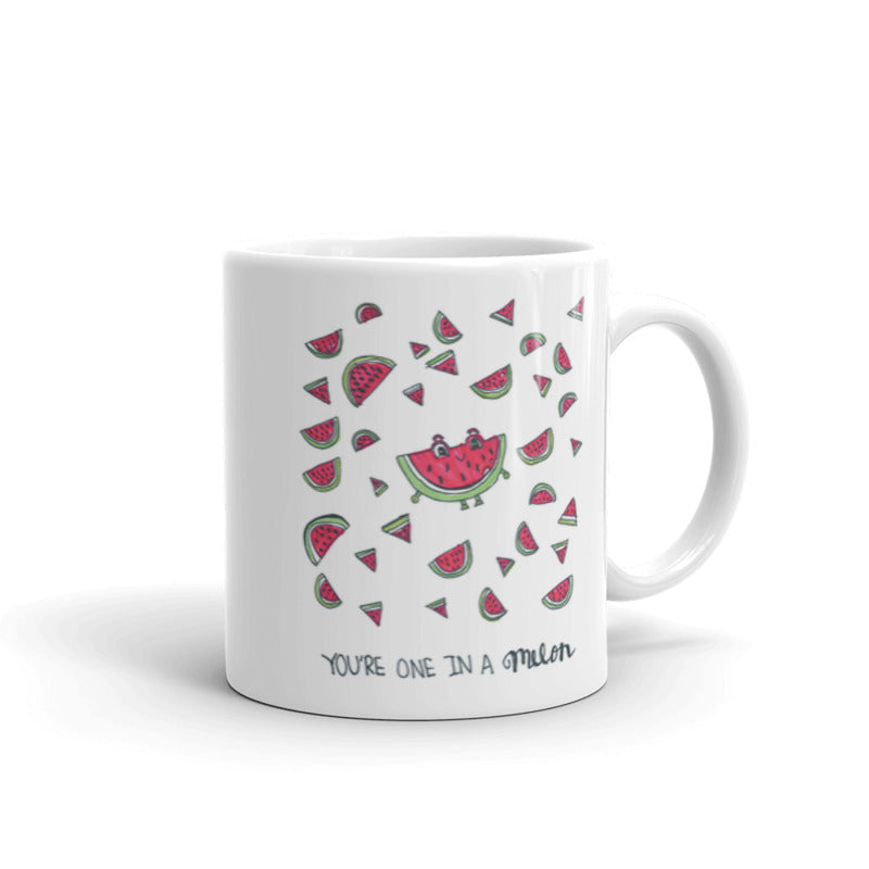 You Are One in a Melon Pun Ceramic Mug