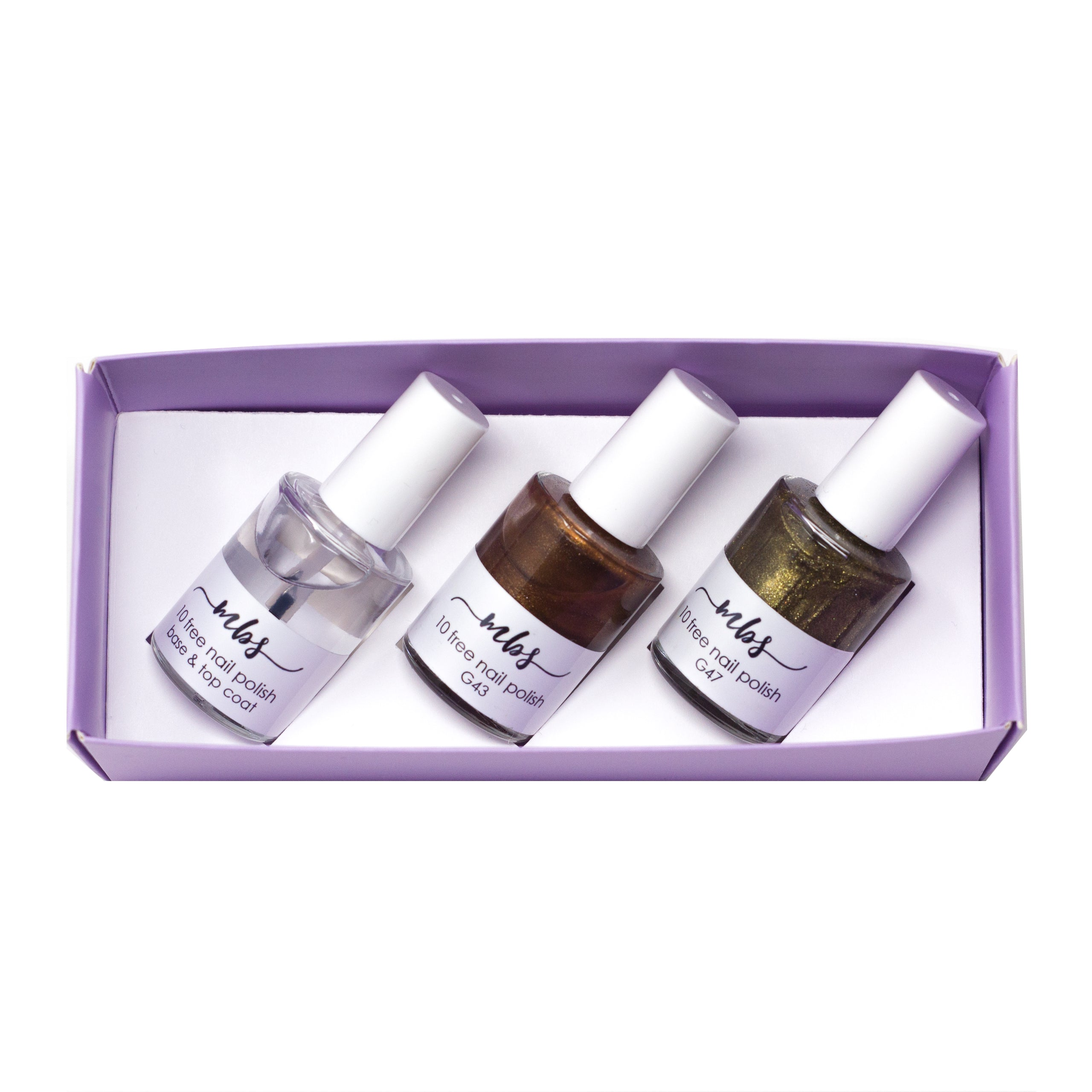 Nail Polish Trio (G43 + G47 + Clear Coat)-Gifts-Morning Blossom Studio