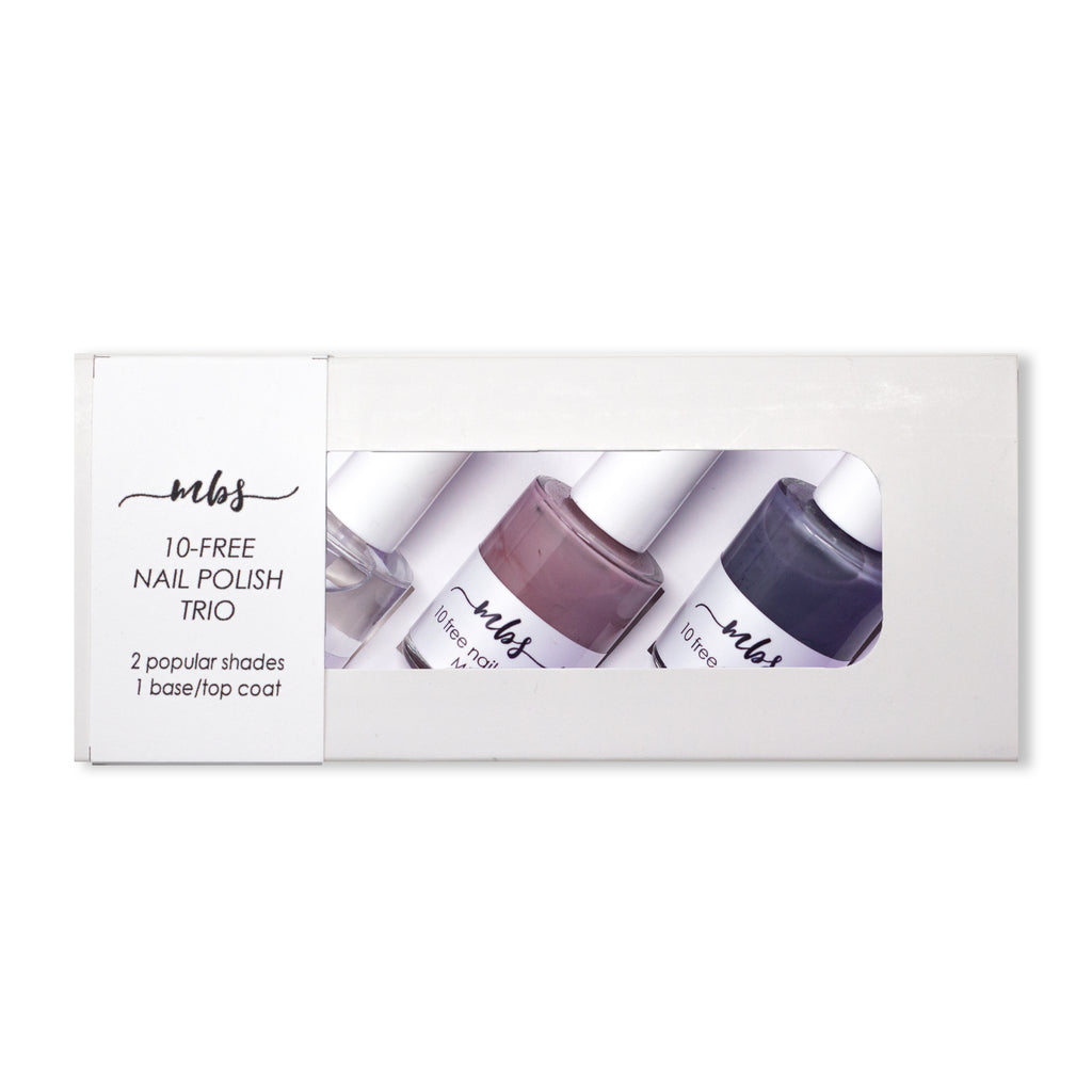 Nail Polish Trio (M18 + M94 + Clear Coat)-Gifts-Morning Blossom Studio