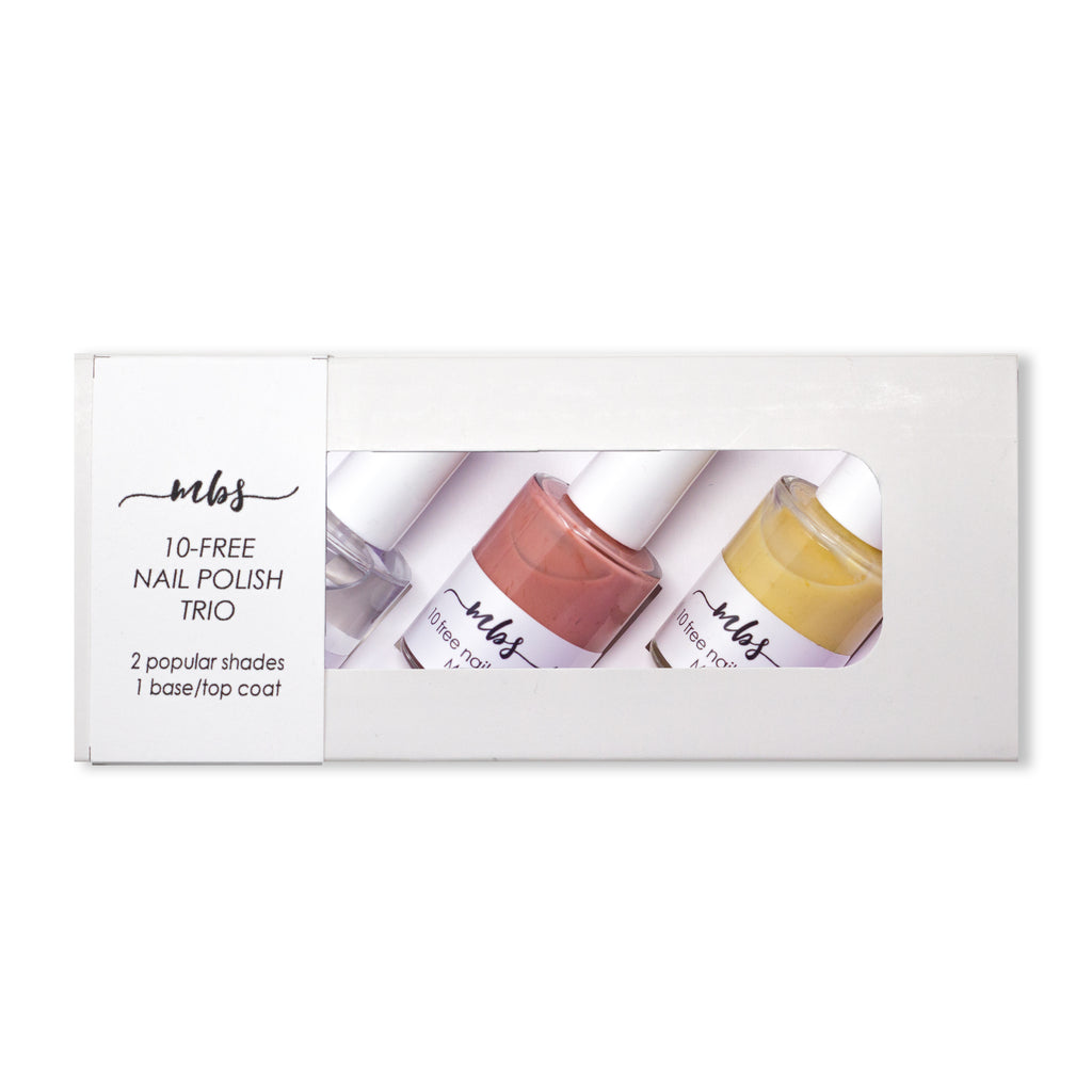 Nail Polish Trio (M24 + M52 + Clear Coat)-Gifts-Morning Blossom Studio