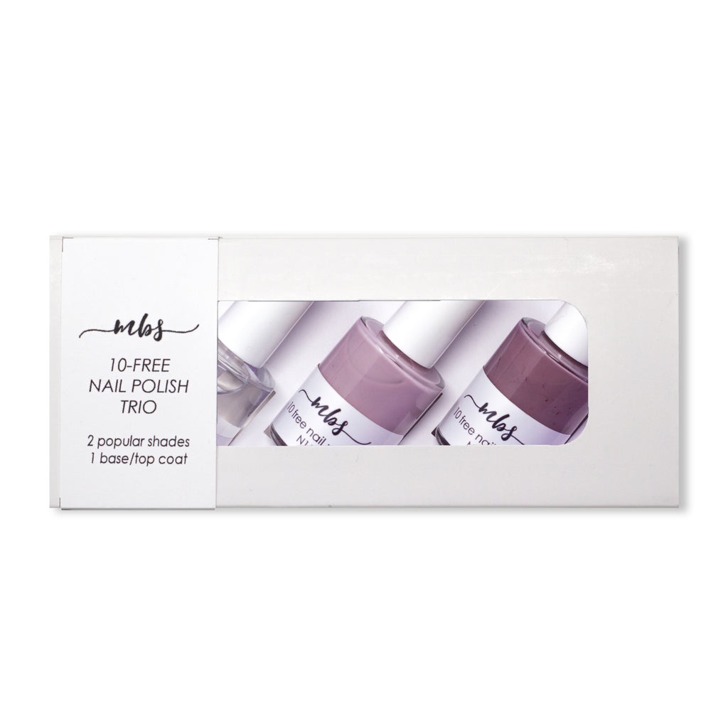 Nail Polish Trio (N11 + N14 + Clear Coat)-Gifts-Morning Blossom Studio