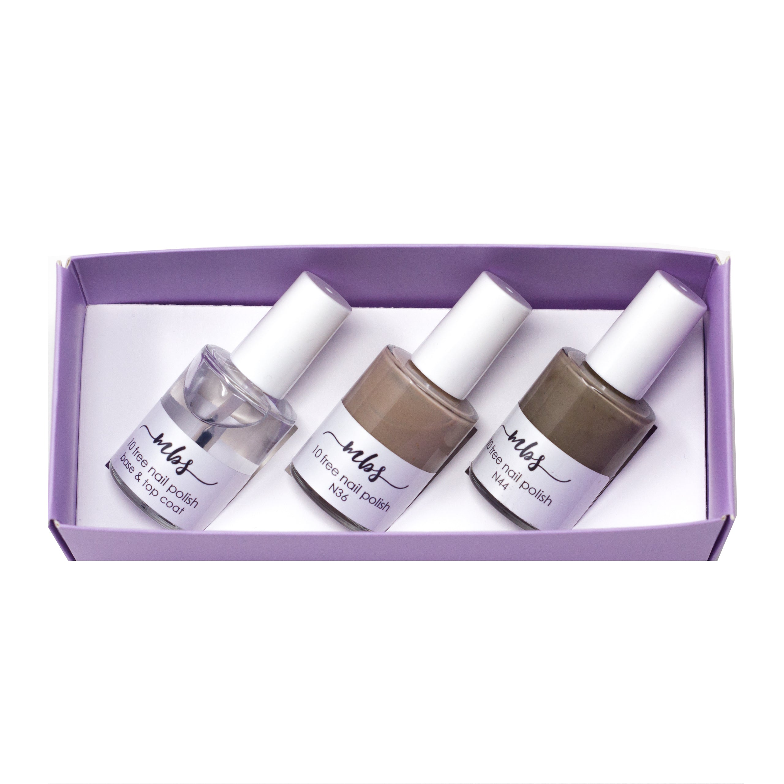 Nail Polish Trio (N36 + N44 + Clear Coat)-Gifts-Morning Blossom Studio