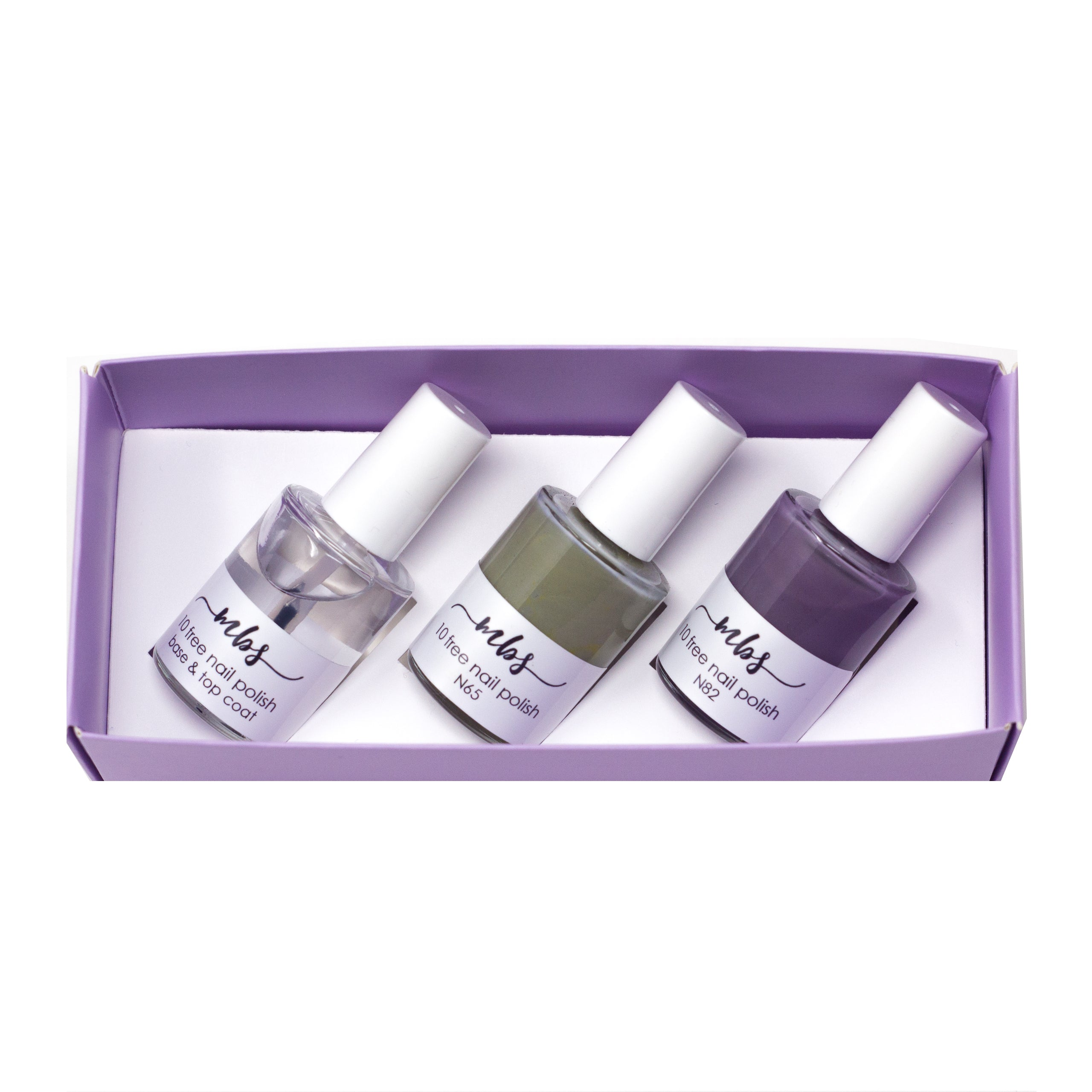 Nail Polish Trio (N65 + N82 + Clear Coat)-Gifts-Morning Blossom Studio