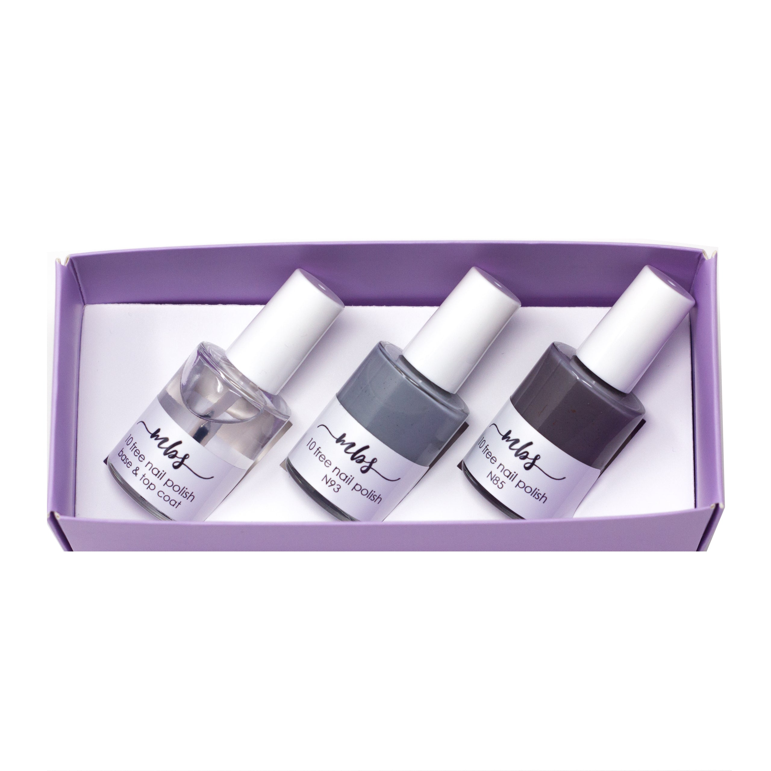 Nail Polish Trio (N85 + N93 + Clear Coat)-Gifts-Morning Blossom Studio