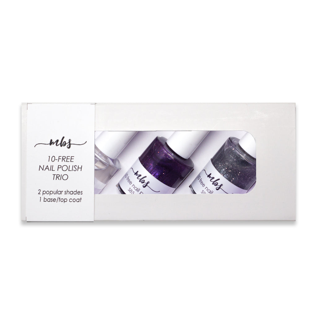 Nail Polish Trio (S85 + S91 + Clear Coat)-Gifts-Morning Blossom Studio