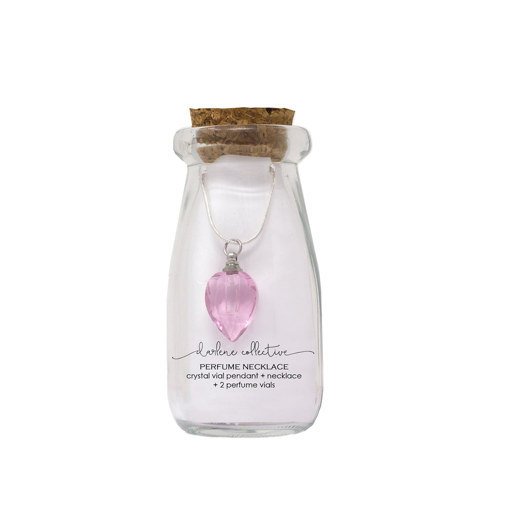 Perfume Necklace (Pink)-Morning Blossom Studio