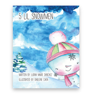 5 Lil Snowmen Gift Set-Book-Morning Blossom Studio