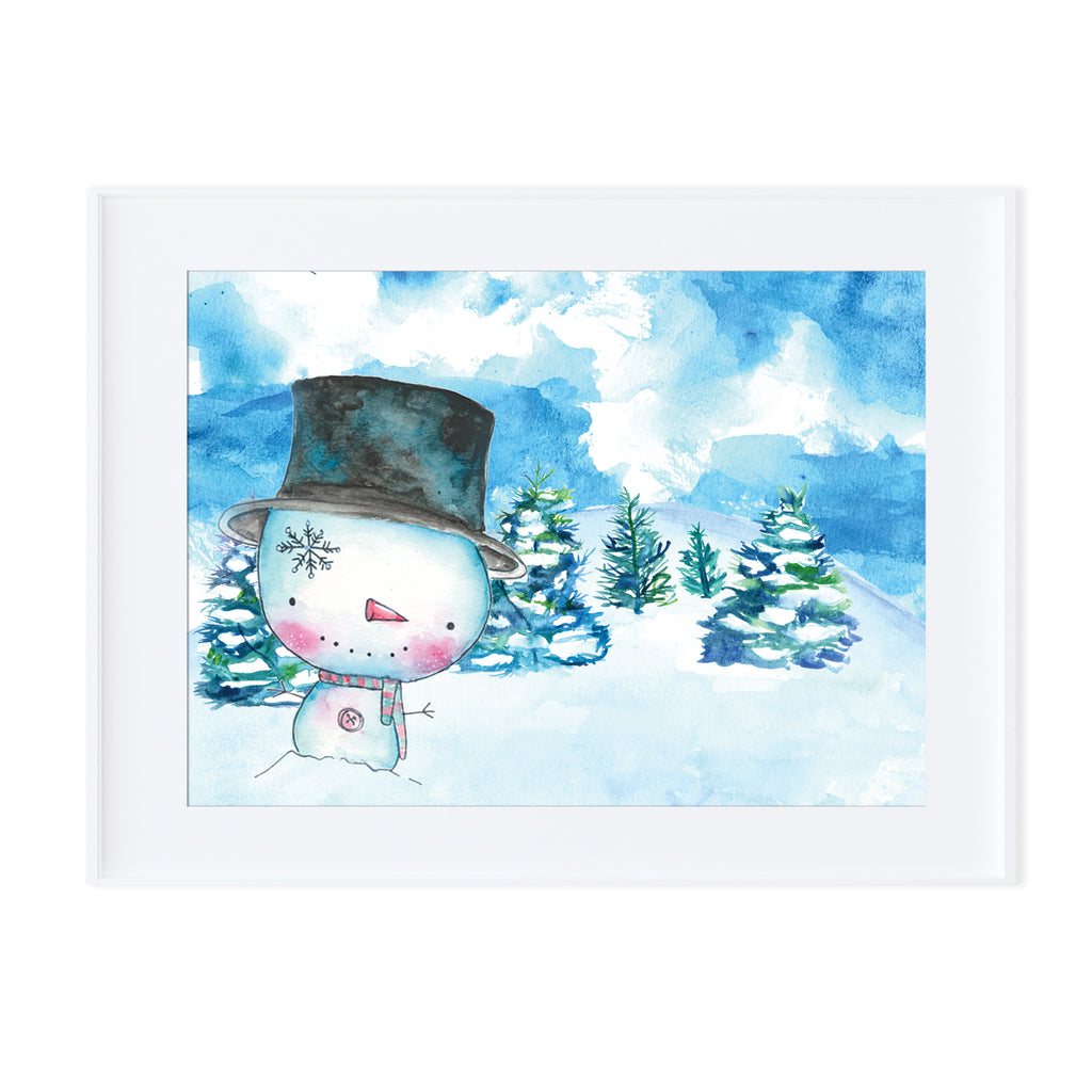 Snowman 1-Prints-Morning Blossom Studio