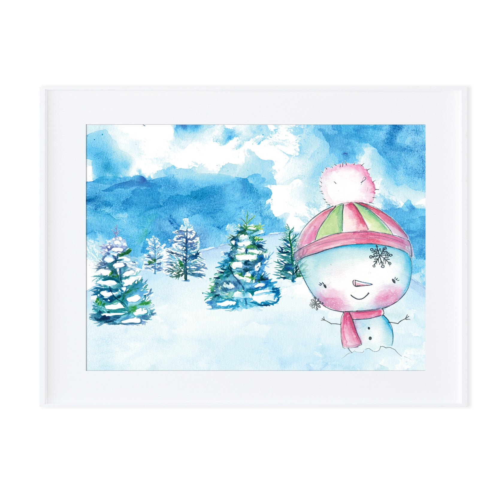 Snowman 2-Prints-Morning Blossom Studio