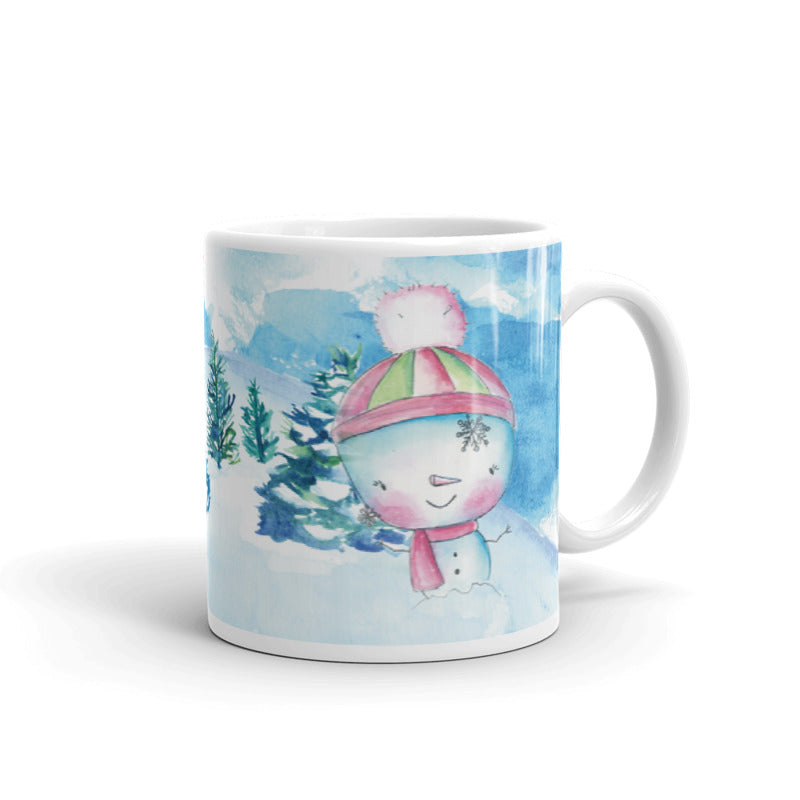 Snowman 2 Ceramic Mug-Mugs-Morning Blossom Studio