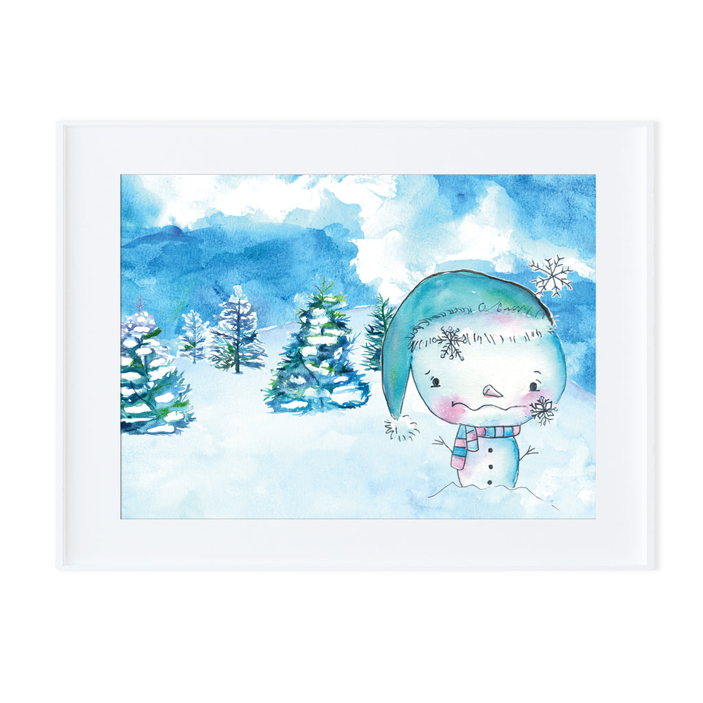 Snowman 3-Prints-Morning Blossom Studio