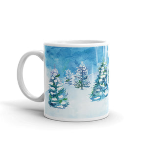 Snowman 3 Ceramic Mug-Mugs-Morning Blossom Studio