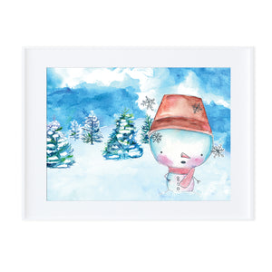 Snowman 4-Prints-Morning Blossom Studio