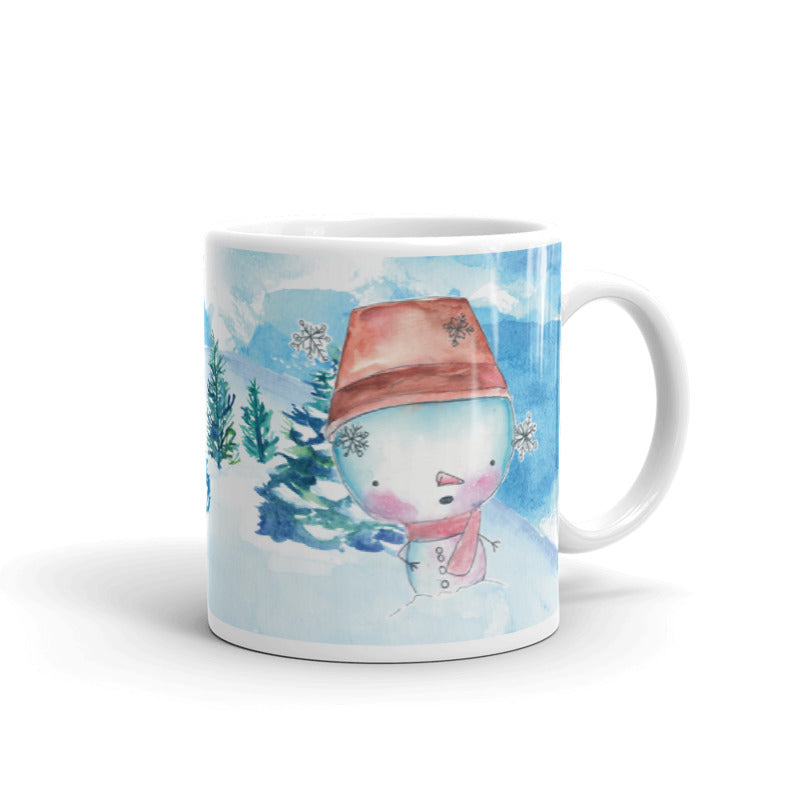 Snowman 4 Ceramic Mug-Mugs-Morning Blossom Studio