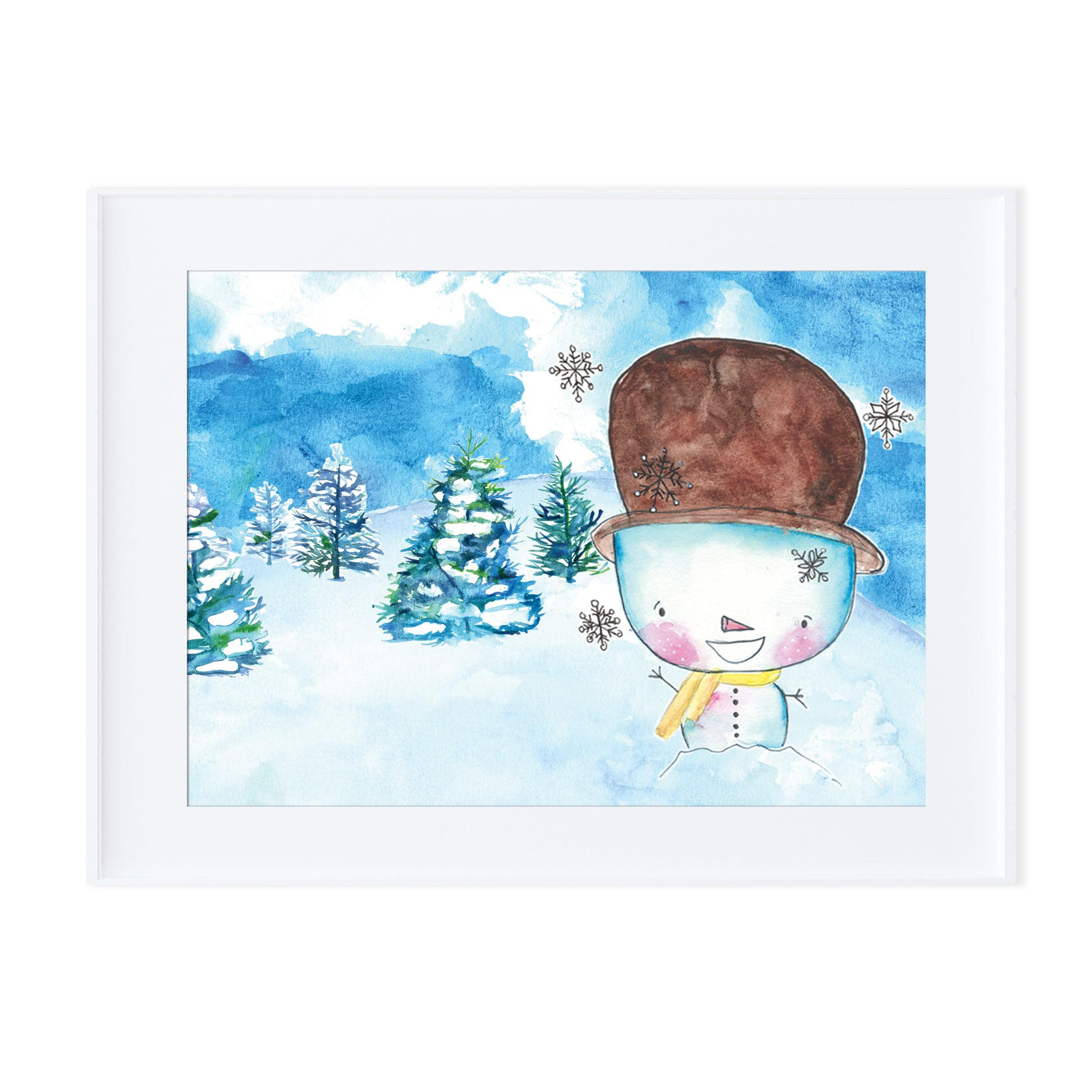 Snowman 5-Prints-Morning Blossom Studio