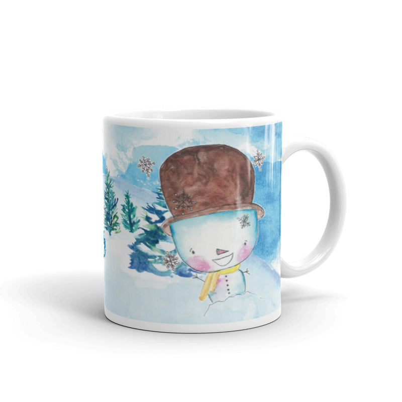 Snowman 5 Ceramic Mug-Mugs-Morning Blossom Studio
