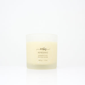 Grapefruit mint soy candle (6.5 oz)-Candle-Morning Blossom Studio