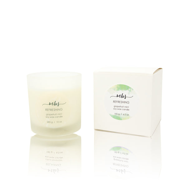 Grapefruit mint soy candle-Morning Blossom Studio