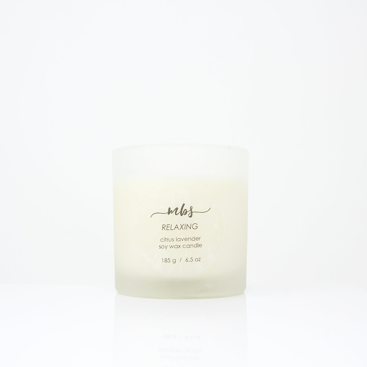 Citrus lavender soy candle (6.5 oz)-Candle-Morning Blossom Studio