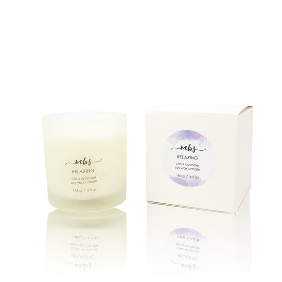 Citrus lavender soy candle-Morning Blossom Studio