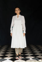 Barkha - White empire line kurta with printed silk pants set